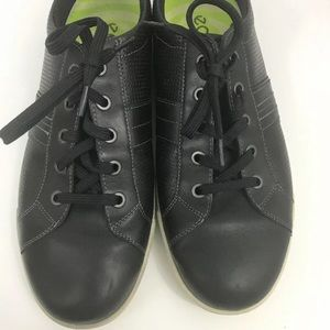 Ecco Nubuck Leather Lace Up Fashion Sneakers